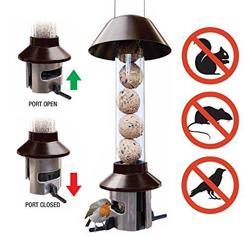 Eichhörnchensicherer Wildvogel-Futterautomat– Roamwild PestOff (Körnermischung/Sonnenblumenkerne)