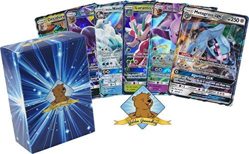 5 GX Rare Pokemon Cards - NO Duplicates - All GX Ultra Rares (200 HP or Higher) - 100% Authentic Pokemon GX Card Lot