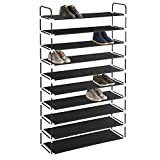 MaidMAX 10 Tiers Free Standing Shoe Rack for 50 Pairs of Shoes Organizer in Closet Entryway Hallway,...