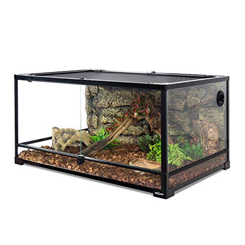 REPTI ZOO 67 Gallon Reptile Glass Terrarium, Double Hinge Door with...