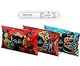 Rolls Filtres à Cigarettes Bio Lot de 180 pcs (5mm slim) - Système de Refroidissement - Sans Charbon Actif - 3 x VIP Pack
