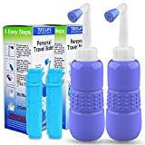 2PCS-Pack Portable Bidet for Toilet - 450ml Travel Bidet - 15oz Handheld Personal Bidet Empty Bottle - Childbirth Cleaner - For Outdoor,Camping,Travling,Driver,Personal Hygiene - with Storage Bag