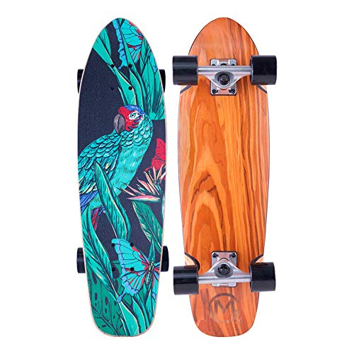Parrot 28' Mini Cruiser Skateboard, 7 Layer Canadian Maple Deck, Complete Beginner Skate Boards for...