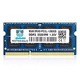 Motoeagle 8GB DDR3 DDR3L-1600 SODIMM PC3L-12800S Non ECC Unbuffered 1.35V CL11 2Rx8 Dual Rank 204-Pin Laptop Memory Ram Module Upgrade