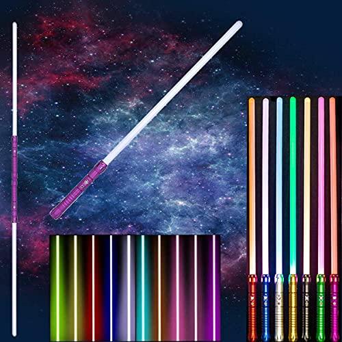 Sciabole luminose per Star Wars, spada laser impiombabile due in uno, 7 set di effetti sonori, 11 spade laser Force Fx ricaricabili a LED RGB per regali di Natale Galaxy War Fighters And Warriors