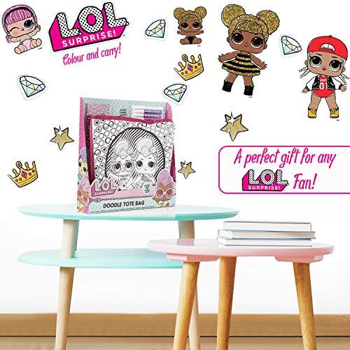 Image 5 - L.O.L. Surprise! Activité Créative Fille Sac à Décorer LOL Surprise | Kit de Loisirs Créatif des Poupées LOL avec Sac Glitter et Feutres | Kits Coloriage Enfant | Idée Cadeaux Filles 4 à 12 Ans