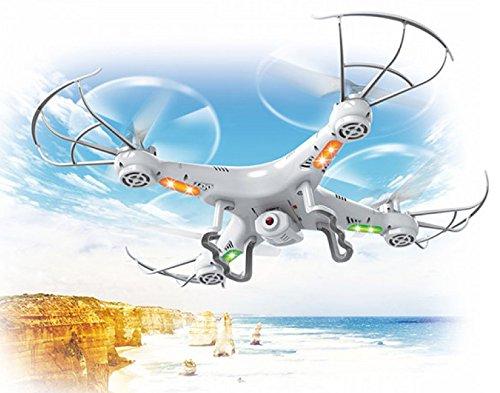 Top Race Quadricottero con Telecamera, Ultra Stabile con Drone con 4 Azioni di Movimento Macchina...