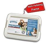 PAWISE Pet Training Pad Holder Puppy Training Pads Portable Potty Trainer Indoor Dog Potty Dog Training Holder (19.2'x14')