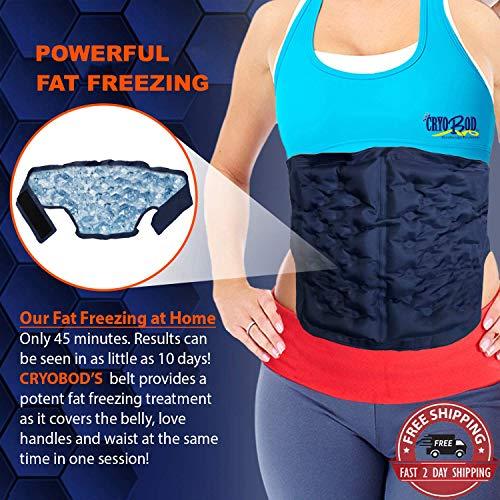 CRYOBOD Fat Freezer Belt - Cold Body Sculpting Kit for Easy Slimming-Body Shaper - Tummy Tuck, Shrink Belt Wrap - Skin-Safe Fat Trimmer to Get Slimmer - For Women and Men-For Women and Men - Fits 29 to 39 Inch Waist 1