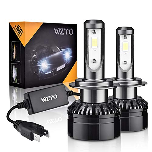 H7 LED, WZTO Lampadine H7 LED 10000LM 60W 12-24V 6000K Sostituzione per Alogena Lampade e Xenon Luci Impermeabile IP65-2 Anni Di Garanzia