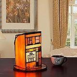 DIMPLEY Lampe De Table Tiffany Style Petite Maison Encyclopédie Verre Terrain Nuit...