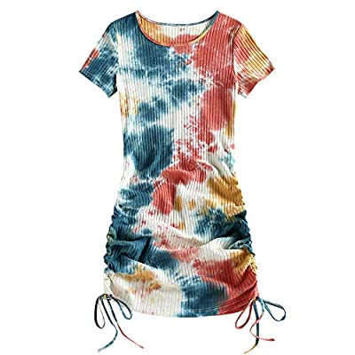 Material: Short Sleeve: Cotton; Long Sleeve: Polyester, Spandex Our Size: S--US 4, M--US 6, L--US 8, XL--US 10.Please refer to our size detail in the description before ordering Short sleeve, round neck, mini length, lightweight, stretchy fabric and ...