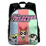 CHLING Kids Backpack The Powerpuff Girls Print Childrens School Bag Teenager Bookbag for Boys Girls