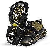Unigear Crampons pour Chaussures Antidérapant avec Crampons en Acier Inoxydable à 18 Dents pour la...