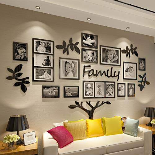 CrazyDeal Family Tree Wall Decal Picture Frame Collage 3D DIY...