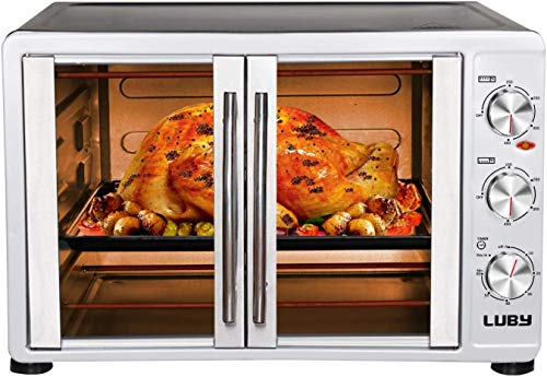 Luby Large Toaster Oven Countertop French Door Designed, 18...