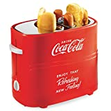 Nostalgia HDT600COKE Coca-Cola Pop-Up 2 Hot Dog and Bun Toaster, With Mini Tongs, Works With...