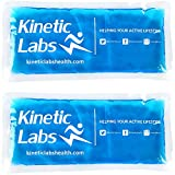 Gel Ice Packs for Injuries by Kinetic Labs (2 Pack) - Flexible Ice Pack for Injury 9.5' x 4.5' -...