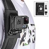 Taisioner Backpack Strap Knapsack Shoulder Mount for GoPro Hero 3/4 / 5/6 / 7/8 Black White Silver GoPro Max Other Action Camera