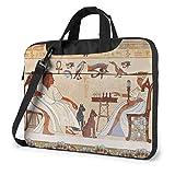 XCNGG Maletín para Ordenador portátil con Arte de Pared del Antiguo Egipto, maletín a Prueba de Golpes para Hombres, Mujeres, Bolso de Mano para Tableta, para Oficina de Viaje de 15,6 Pulgadas