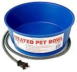 Farm Innovators Model R-19 Economical 1-1/2-Gallon Round Heated Pet Bowl, Blue, 60-Watt