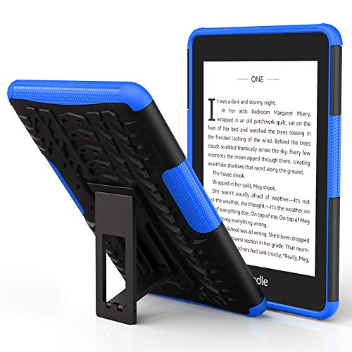 ROISKIN Kindle Paperwhite Case with Kickstand - Now Waterproof with 2X The Storage, Dual Layer Shockproof Protective Case for Paper-White (10th Generation, 2018 Released), Blue