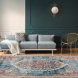Ottomanson Area Rug, 5'3' x 7', Turquoise