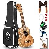 Vangoa Sopran Ukulele 21 Zoll Mahagoni Holz Akustische Ukulelen Klein Hawaii-Gitarre mit Anfänger Kits für Einsteiger, Kinder, Erwachsene