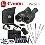 Canon 15x50 is All-Weather Image Stabilized Binocular Advanced Bundle