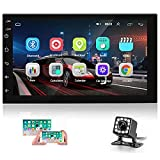 Android Car Stereo Double Din Car Radio 7 Inch Capacitive Touch Screen GPS Navigation FM Radio Reciever Supports Mirror Link WiFi Connect Steering Wheel Remote Control + Backup Camera
