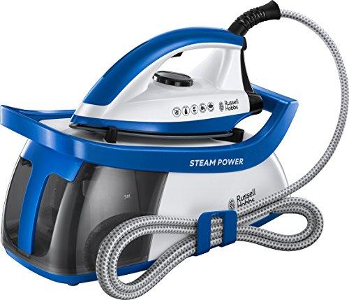 Russell Hobbs 24430-56 Steam Power Dampfbügelstation (2600 W, 4,5 Bar Dampfdruck, herausnehmbarer 1,3 l Wassertank) blau/weiß