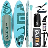 DAMA 10'6'x32'x6' Premium Inflatable Stand Up Paddle Board (6 inches Thick) with Durable SUP Accessories, Wide Stance, Surf Control, Non-Slip Deck, Paddle and Pump, Standing Boat for Youth & Adult