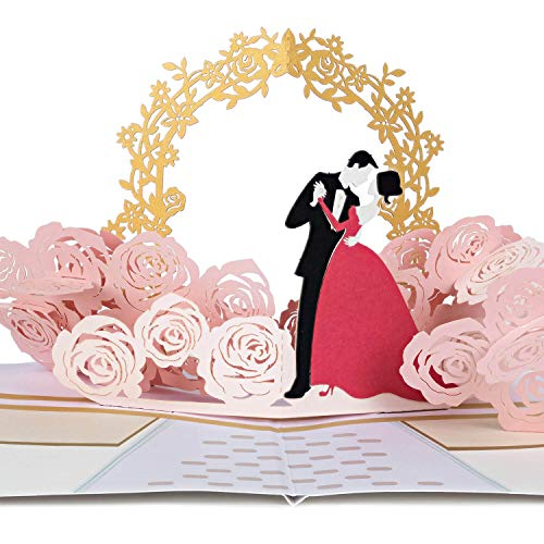 PaperCrush® Pop-Up Karte Hochzeit Brautpaar [NEU!] - Besondere 3D Hochzeitskarte, Geschenkkarte als Glückwunsch zur Hochzeit - Romantische Glückwunschkarte zum Standesamt