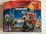 Playmobil 5890 - rouge Coffre en plastique - avec 2 Chevalier & Cheval &...