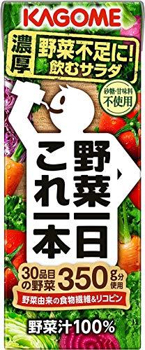 カゴメ 野菜一日 これ一本 200ml×24本 野菜嫌いでも飲めるオススメの野菜ジュース!KOGOME「野菜生活」、伊藤園「ビタミン野菜」が飲みやすくて美味しい!【味・商品特徴・栄養成分・原材料】