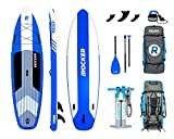 iROCKER Cruiser Inflatable Stand Up Paddle Board 10'6' Long 33' Wide 6' Thick SUP Package   Blue - 2019