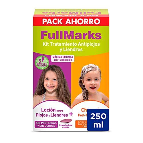 Full Marks Kit Tratamiento Antipiojos para Niños, Elimina l