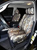 Durafit Seat Covers Made to fit 2007-2013 Toyota Tundra Crew Max Front and Back Seat Set in Camo Endura. Front Buckets with Airbags and Rear 60/40 Split Bench with Armrest