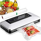 Aobosi Vacuum Sealer /5 In 1 Automatic Food Sealer Machine for Food Storage and Preservation with Dry&Moist Modes for Sous Vide,Led Indicator Lights& Started Kit of Rolls&Hose for Home&Commercial
