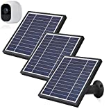 iTODOS 3 Pack Solar Panels Work for Arlo Pro 2 Camera, 11.8Feet Power Cord and Adjustable Mount,NOT for Arlo Pro(Black)