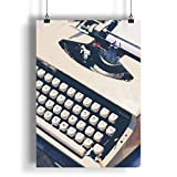 INNOGLEN Machine à écrire Blanche Vintage A0 A1 A2 A3 A4 Affiche Photo en...