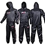 DEFY Heavy Duty Sweat Suit Sauna Exercise Gym Suit Fitness, Weight Loss, Anti-Rip, with Hood (2XL)