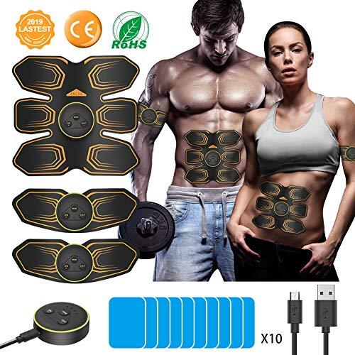 ANLAN Electroestimulador Muscular Abdominales, EMS Estimulador,...