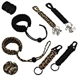 Xiuyer Paracord Porte-clés & Bracelet, Lanière Tressée pour Clés avec...