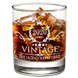 The Legend Has Retired 2020 - Limited Edition Retirement Gifts for Men Women – Happy Funny Retirement Gag Gifts Idea for Coworkers, Friends, Him/Her - 11 oz Bourbon Scotch Whiskey Glass