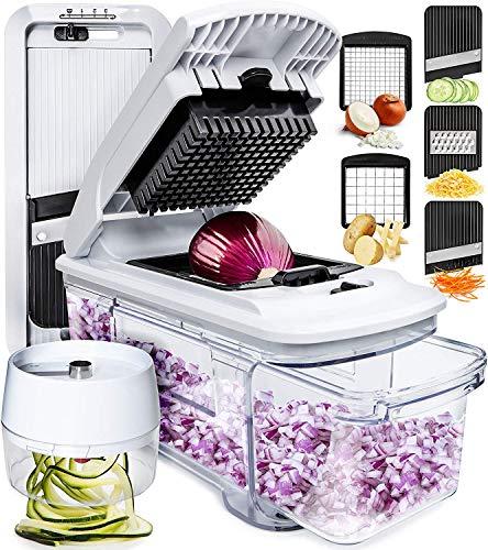 Mandoline Slicer Spiralizer Vegetable Slicer - Vegetable...
