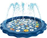 "SplashEZ 3-in-1 Sprinkler for Kids, Splash Pad, and Wading Pool for Learning – Children's Sprinkler Pool, 60'' Inflatable Water Toys – ""from A to Z"" Outdoor Swimming Pool for Babies and Toddlers"