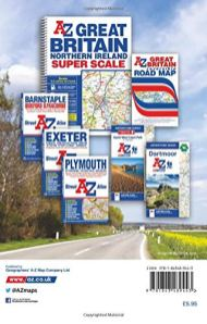 Devon-and-Cornwall-A-Z-Road-Map
