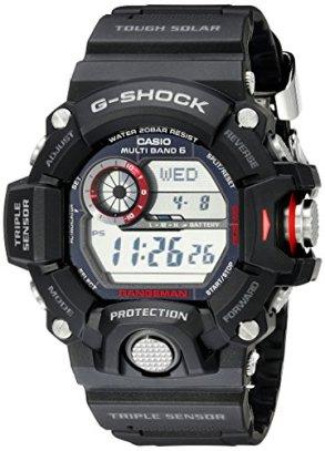Casio Men's GW-9400-1CR Master of G Stainless Steel Solar Watch