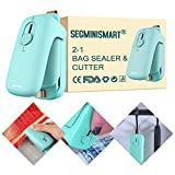 Bag Sealer, Bag Heat Sealer, Handheld Heat Sealer, 2 in 1 Heat Sealer and Cutter Portable Bag Resealer Sealer Quick Seal for Plastic Bags Food Storage Snack Fresh Bag Sealer (Battery Not Included)